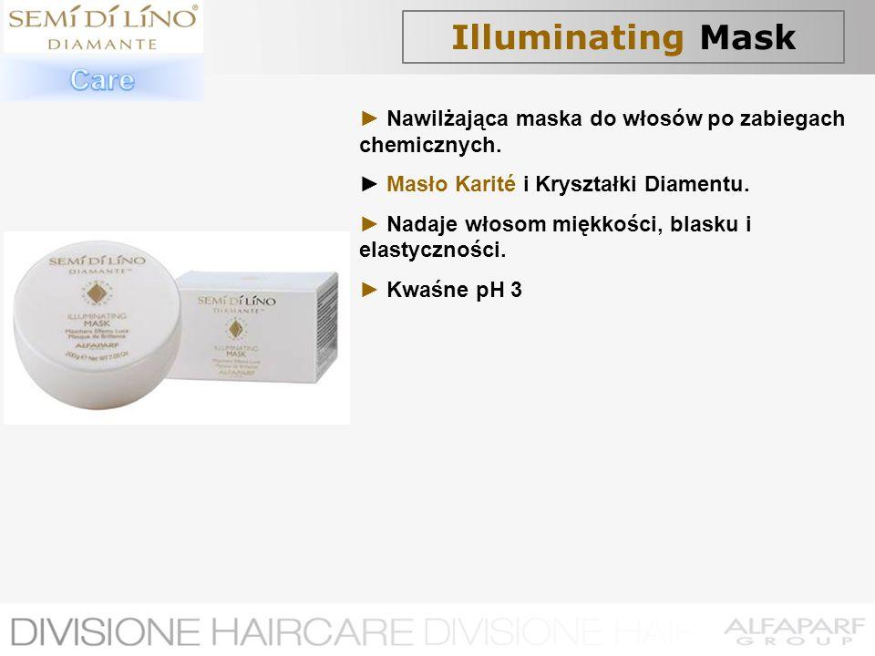 Illuminating Mask Nawilżająca maska do włosów po zabiegach chemicznych. Masło Karité i Kryształki Diamentu. Nadaje włosom miękkości, blasku i elastycz