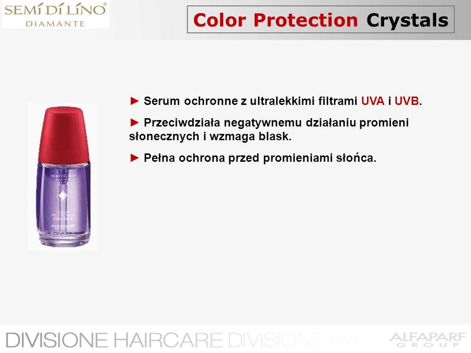 Color Protection Crystals Serum ochronne z ultralekkimi filtrami UVA i UVB. Przeciwdziała negatywnemu działaniu promieni słonecznych i wzmaga blask. P