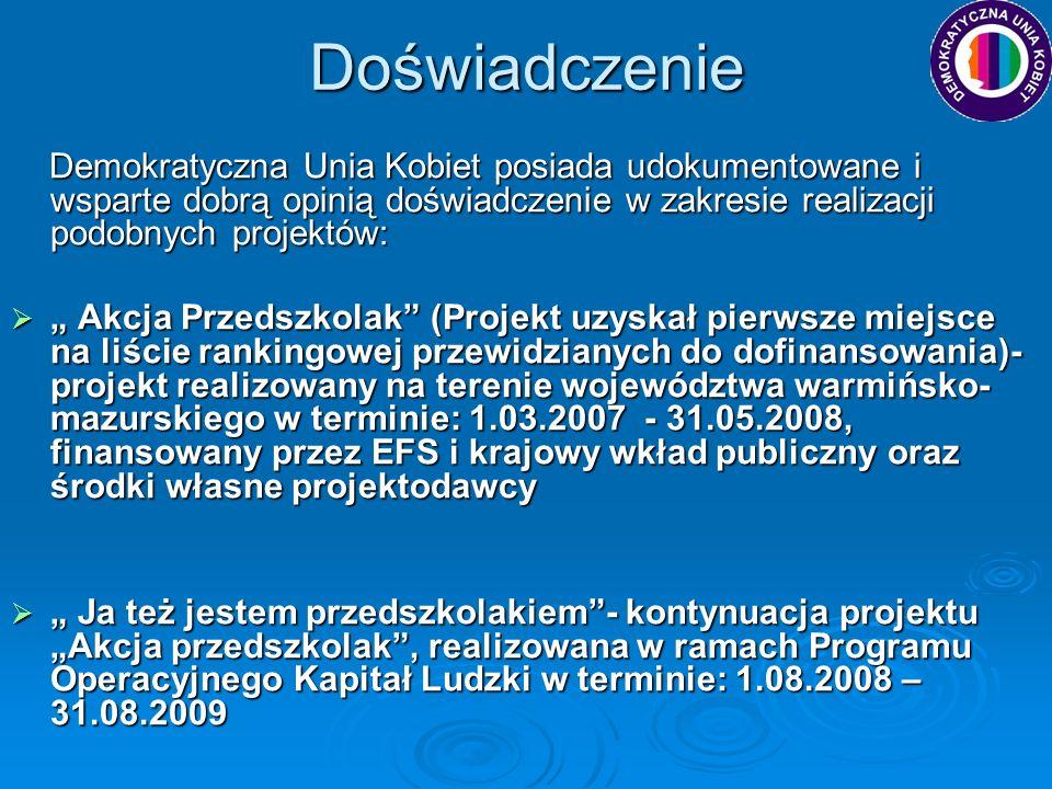 AKCJA PRZEDSZKOLAK utworzenie 30 alternatywnych ośrodków edukacji przedszkolnej, do których uczęszczało 450 dzieci w wieku 3-5 lat utworzenie 30 alternatywnych ośrodków edukacji przedszkolnej, do których uczęszczało 450 dzieci w wieku 3-5 lat utworzenie portalu internetowego (www.akcjaprzedszkolak.org) utworzenie portalu internetowego (www.akcjaprzedszkolak.org)www.akcjaprzedszkolak.org przeszkolenie 60 osób z zakresu administrowania ośrodkami przeszkolenie 60 osób z zakresu administrowania ośrodkami przeszkolenie 30 nauczycielek w zakresie metodycznych aspektów funkcjonowania ośrodków przedszkolnych przeszkolenie 30 nauczycielek w zakresie metodycznych aspektów funkcjonowania ośrodków przedszkolnych zatrudnienie 39 nauczycielek (umowa o pracę ½ etatu – tygodniowo 15h pracy dydaktycznej z dziećmi +5h działań pozadydaktycznych, kilka osób w mniejszym wymiarze, spotkania z rodzicami, konsultacje z rodzicami) zatrudnienie 39 nauczycielek (umowa o pracę ½ etatu – tygodniowo 15h pracy dydaktycznej z dziećmi +5h działań pozadydaktycznych, kilka osób w mniejszym wymiarze, spotkania z rodzicami, konsultacje z rodzicami) przeprowadzono badania kompetencji 450 dzieci wg arkusza badawczego, przeprowadzono badania kompetencji 450 dzieci wg arkusza badawczego, opracowano raport merytoryczny, oceniający jakość funkcjonowania ośrodków, finansowany był zakup drugiego śniadanka oraz dojazd dzieci do ośrodków opracowano raport merytoryczny, oceniający jakość funkcjonowania ośrodków, finansowany był zakup drugiego śniadanka oraz dojazd dzieci do ośrodków wsparcie dla gmin, poprzez refundowanie części kosztów funkcjonowania ośrodków na podstawie przedstawionych dowodów poniesienia wydatków wsparcie dla gmin, poprzez refundowanie części kosztów funkcjonowania ośrodków na podstawie przedstawionych dowodów poniesienia wydatkówCd…