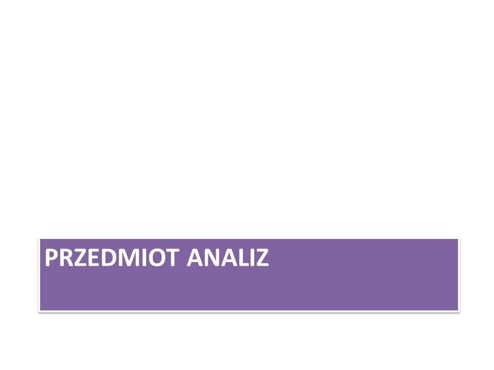 PRZEDMIOT ANALIZ