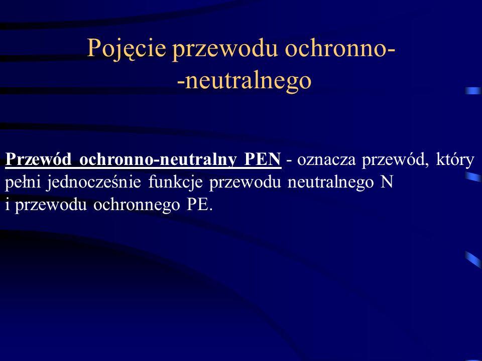 Przewód ochronno-neutralny PEN - oznacza przewód, który pełni jednocześnie funkcje przewodu neutralnego N i przewodu ochronnego PE. Pojęcie przewodu o
