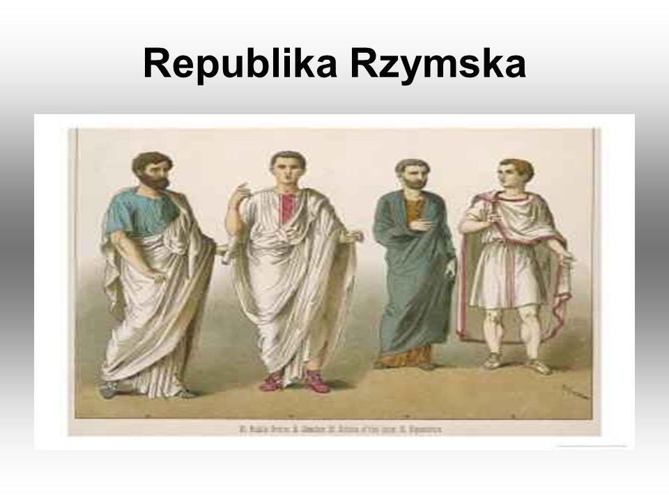 W republice rzymskiej, która istniała od VI w.p.n.e.