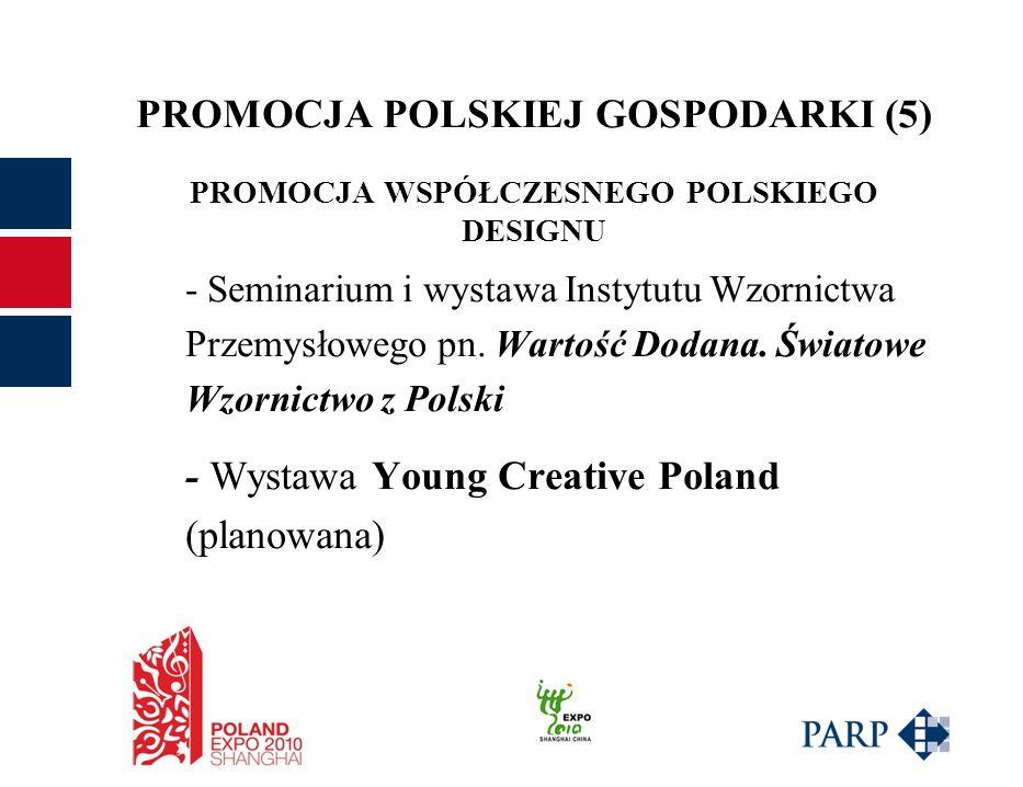 PROMOCJA POLSKIEJ GOSPODARKI (5) PROMOCJA WSPÓŁCZESNEGO POLSKIEGO DESIGNU - Seminarium i wystawa Instytutu Wzornictwa Przemysłowego pn.