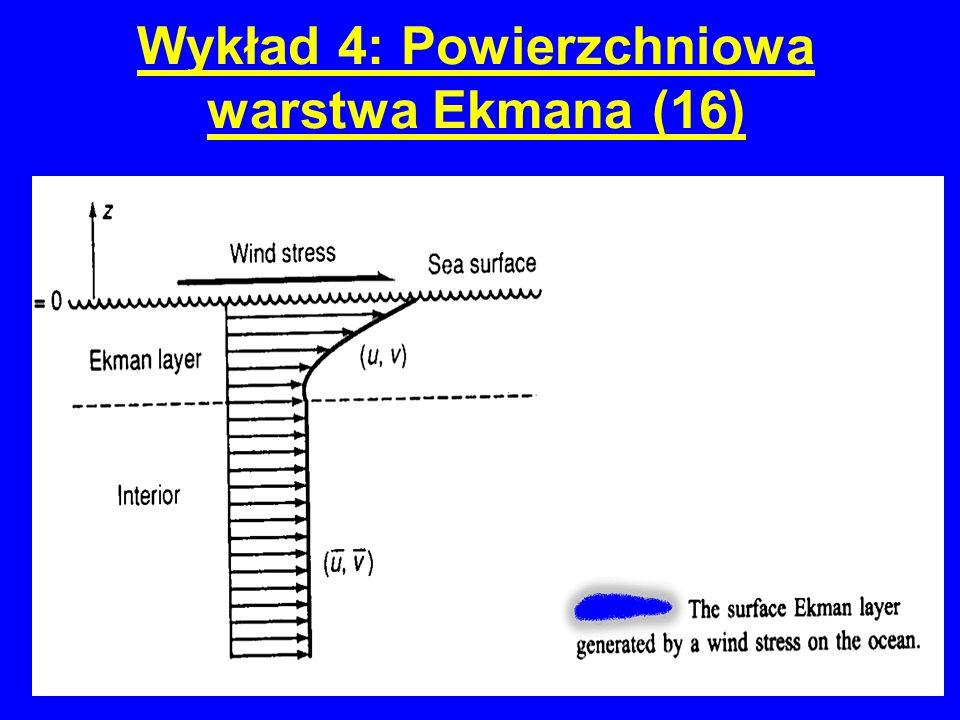 Wykład 4: Powierzchniowa warstwa Ekmana (16)