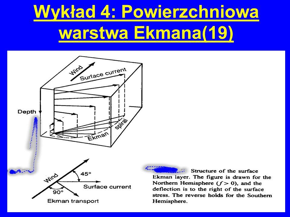 Wykład 4: Powierzchniowa warstwa Ekmana(19)
