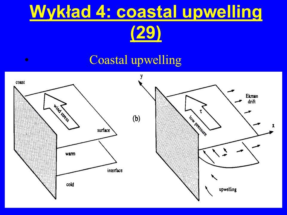 Wykład 4: coastal upwelling (29) Coastal upwelling