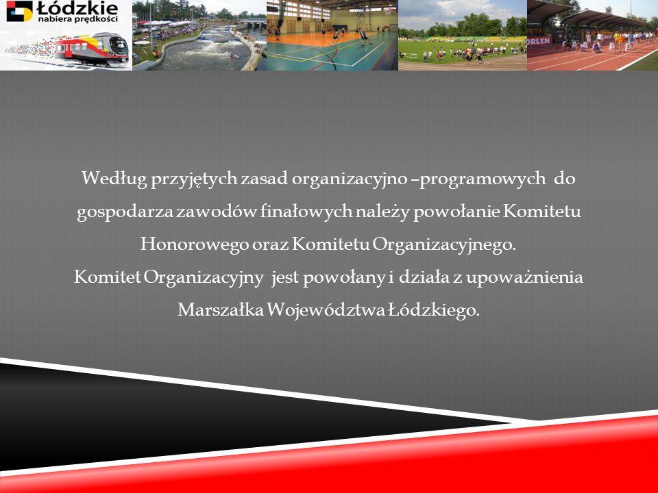 Według przyjętych zasad organizacyjno –programowych do gospodarza zawodów finałowych należy powołanie Komitetu Honorowego oraz Komitetu Organizacyjneg