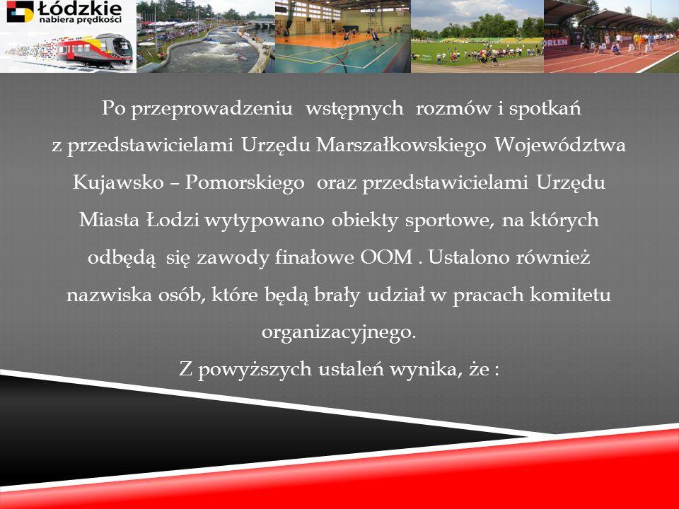 Po przeprowadzeniu wstępnych rozmów i spotkań z przedstawicielami Urzędu Marszałkowskiego Województwa Kujawsko – Pomorskiego oraz przedstawicielami Ur