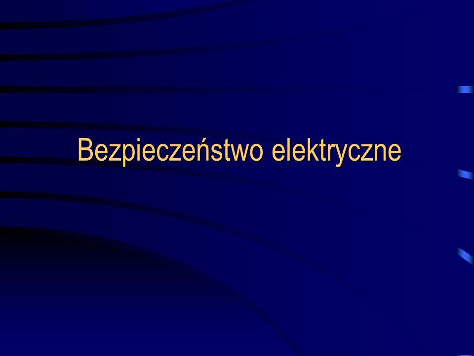 Program przedmiotu Działanie prądu na organizm człowieka Impedancja ciała ludzkiego Skutki przepływu prądu przemiennego i stałego Rozpływ prądu w ziemi, uziemienia Napięcie dotykowe Niebezpieczeństwo porażeń w sieciach nn Zasady i rodzaje ochrony przeciwporażeniowej Środki ochrony przed dotykiem bezpośrednim Równoczesna ochrona przed dotykiem bezpośrednim i pośrednim Środki ochrony przed dotykiem pośrednim