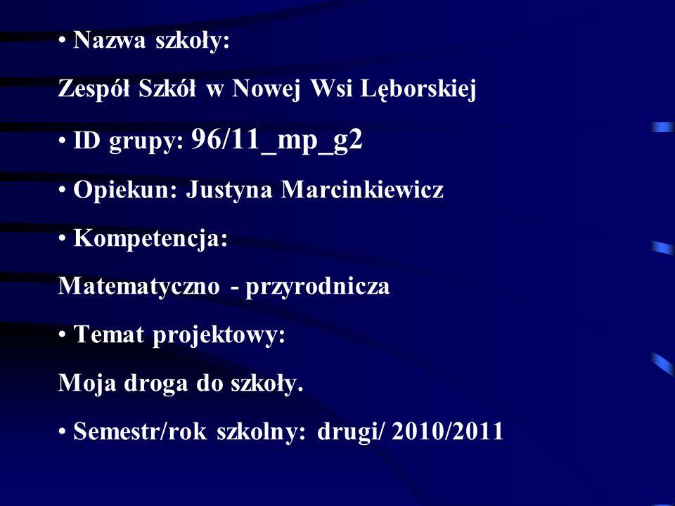 Nazwa szkoły: Zespół Szkół w Nowej Wsi Lęborskiej ID grupy: 96/11_mp_g2 Opiekun: Justyna Marcinkiewicz Kompetencja: Matematyczno - przyrodnicza Temat