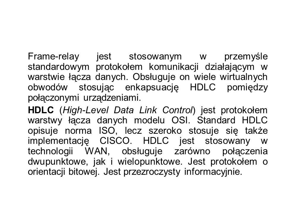 Typy połączeń ATM W fizycznym połączenie (np.