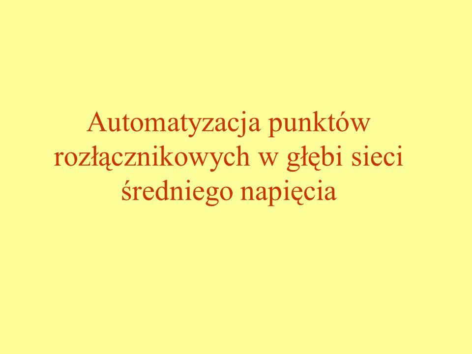 Automatyzacja punktów rozłącznikowych w głębi sieci średniego napięcia