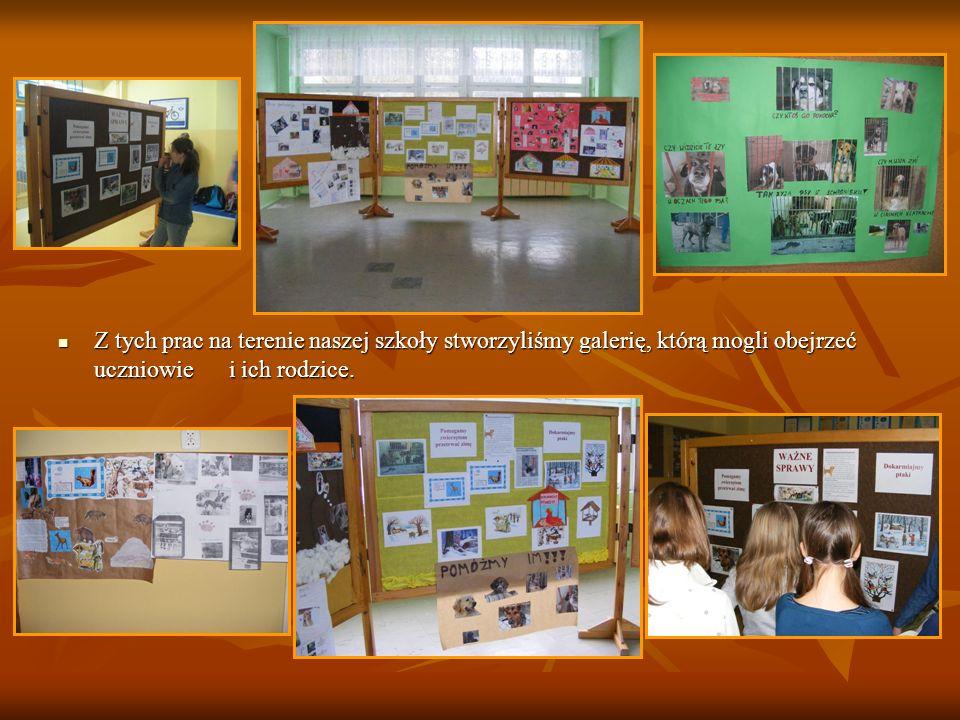 Z tych prac na terenie naszej szkoły stworzyliśmy galerię, którą mogli obejrzeć uczniowie i ich rodzice. Z tych prac na terenie naszej szkoły stworzyl