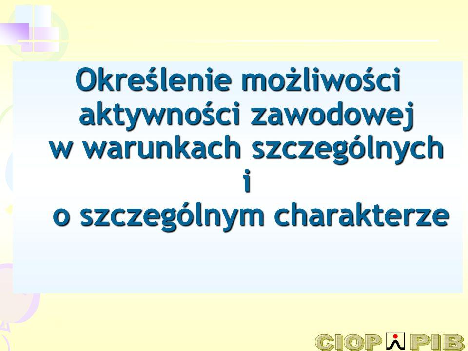 Treść prezentacji: 1.Stan warunków pracy w Polsce w okresie transformacji 2.Zmiany zdolności do pracy wraz z wiekiem 3.Praca a starzejące się społeczeństwo w świetle strategii MOP i UE 4.Kryteria kwalifikowania osób jako: a.