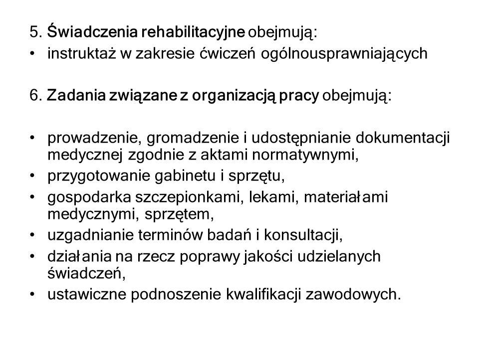 Akty prawne wymagające nowelizacji : Rozporządzenie Ministra Zdrowia z dn.