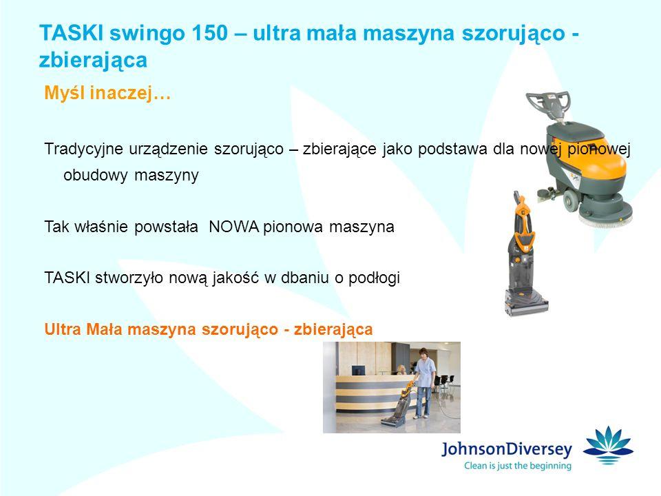 Myśl inaczej… Tradycyjne urządzenie szorująco – zbierające jako podstawa dla nowej pionowej obudowy maszyny Tak właśnie powstała NOWA pionowa maszyna