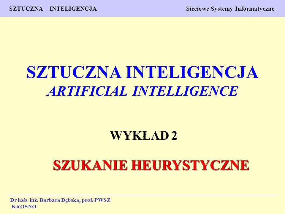 1 Wykład 2 PROGNOZOWANIE WŁAŚCIWOŚCI MATERIAŁÓW Inżynieria Materiałowa SZTUCZNA INTELIGENCJA Sieciowe Systemy Informatyczne Dr hab. inż. Barbara Dębsk