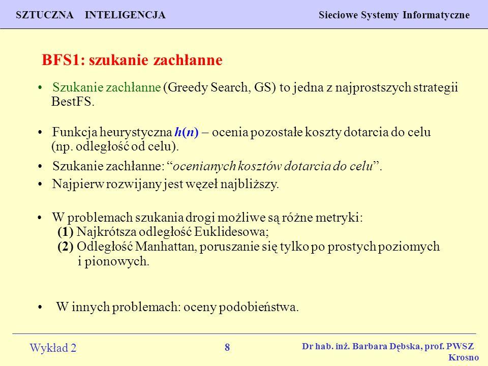 8 Wykład 2 PROGNOZOWANIE WŁAŚCIWOŚCI MATERIAŁÓW Inżynieria Materiałowa SZTUCZNA INTELIGENCJA Sieciowe Systemy Informatyczne Dr hab. inż. Barbara Dębsk