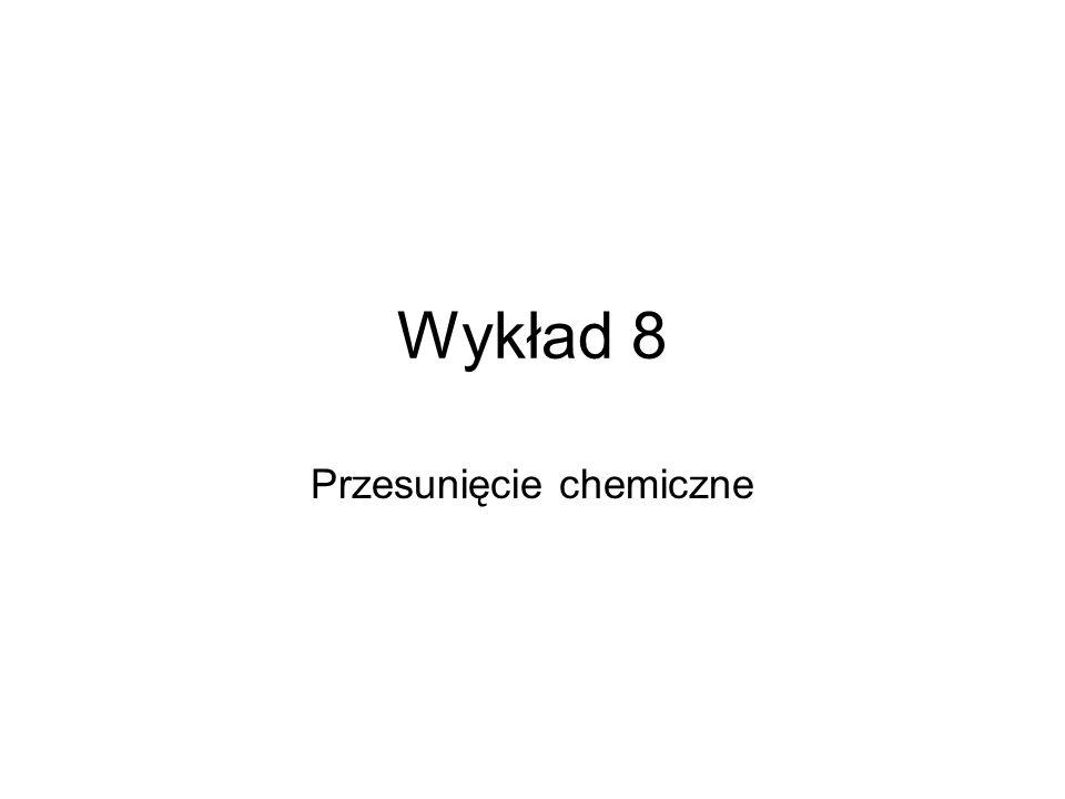 Wykład 8 Przesunięcie chemiczne