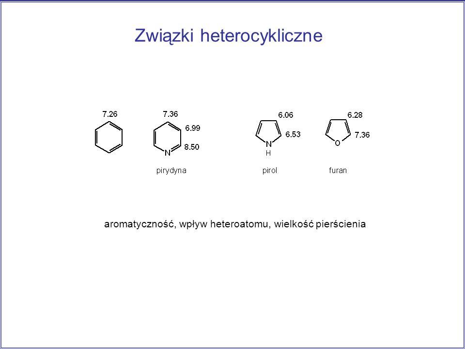 Związki heterocykliczne aromatyczność, wpływ heteroatomu, wielkość pierścienia