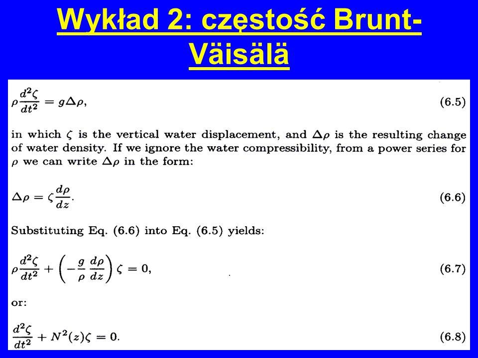Wykład 2: częstość Brunt- Väisälä