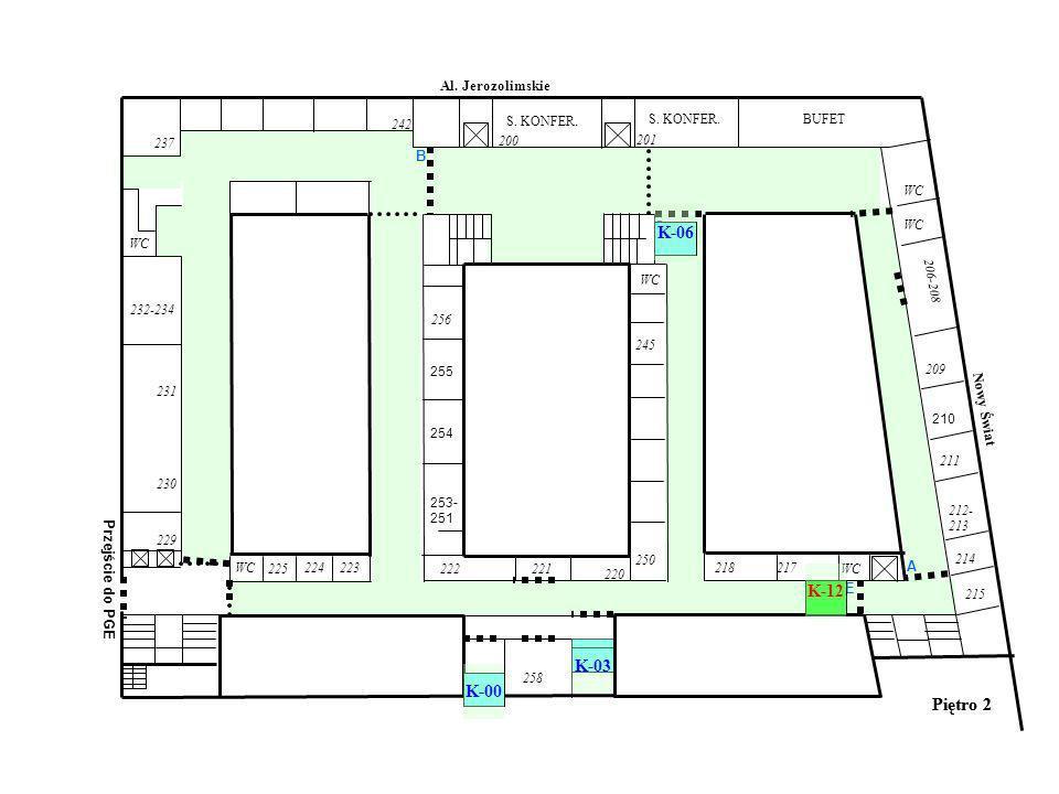 Piętro 2 WC Al. Jerozolimskie Nowy Świat 218217 WC BUFETS.