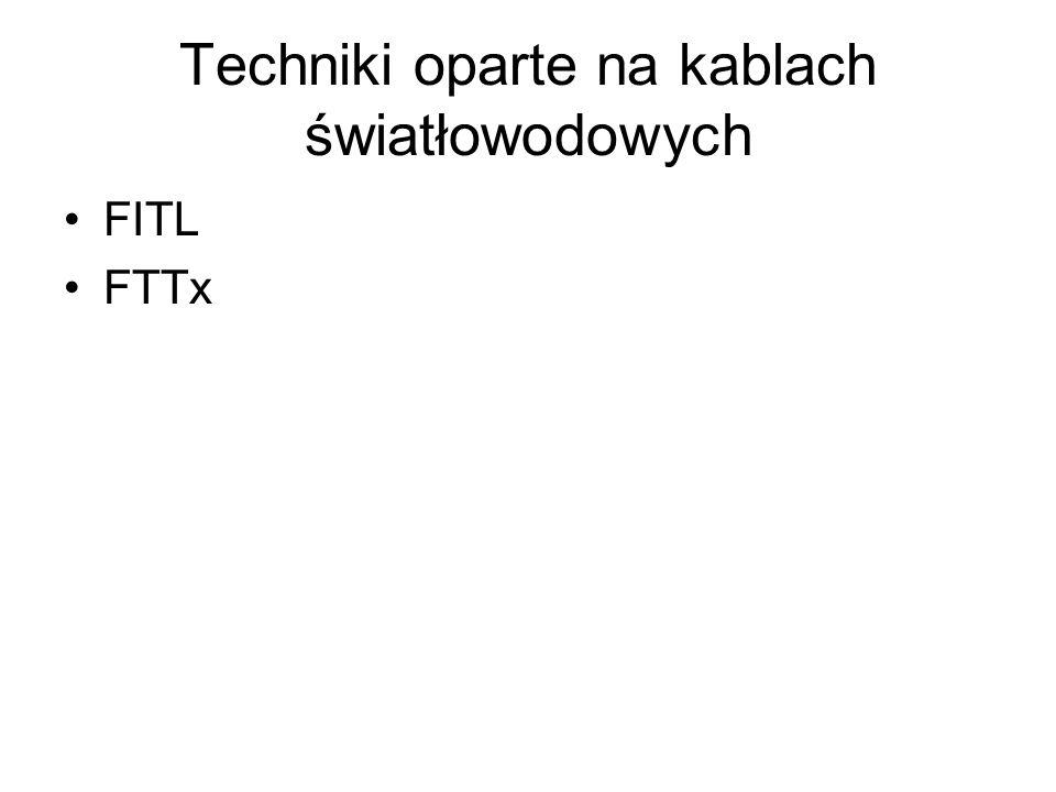 Techniki oparte na kablach światłowodowych FITL FTTx