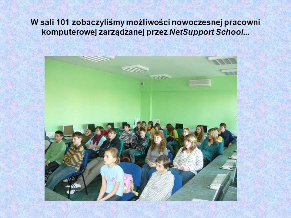 W sali 101 zobaczyliśmy możliwości nowoczesnej pracowni komputerowej zarządzanej przez NetSupport School...