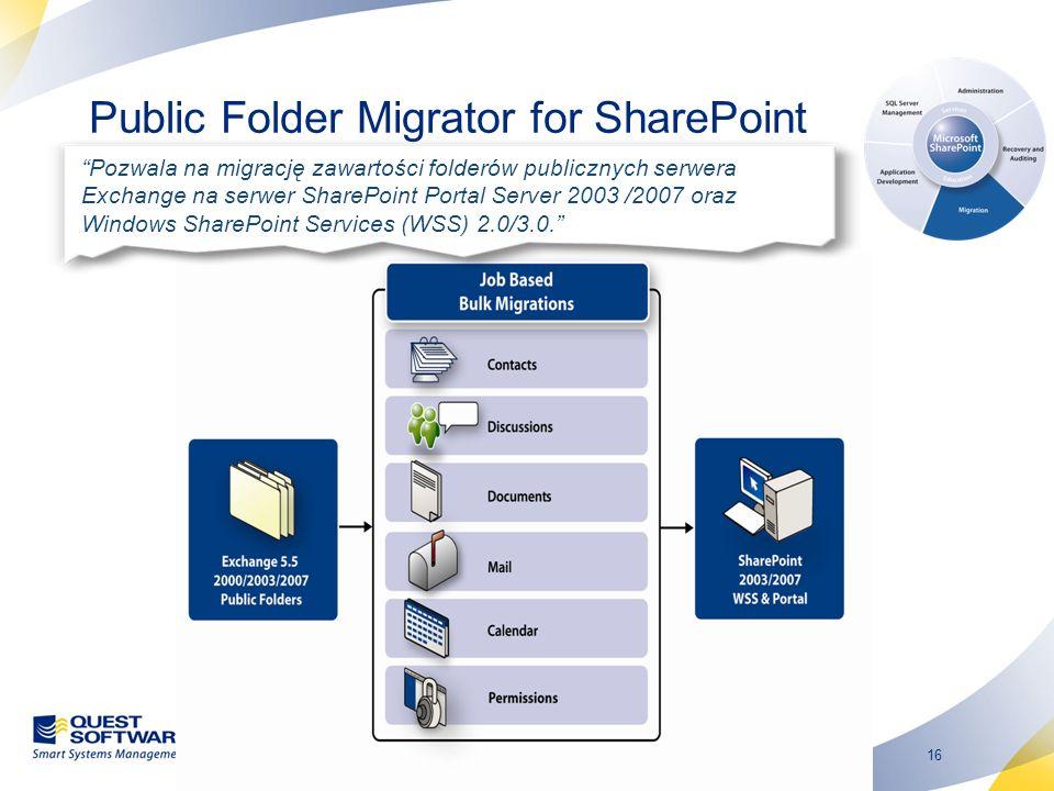 17 Portfolio produktów do zarządzania środowiskiem Windows Zakres rozwi ą za ń * Quest-Dystrybucja Sp.