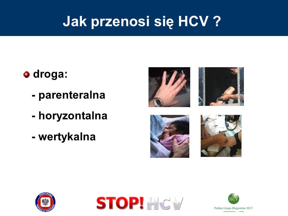 wkłucia oraz inne inwazyjne zabiegi medyczne wykonywane niesterylnym sprzętem lub brudnymi rękami/rękawiczkami: - brak wiedzy, - brak lub nieprzestrzeganie procedur postępowania aseptycznego i antyseptycznego Medyczne przyczyny zakażenia HCV