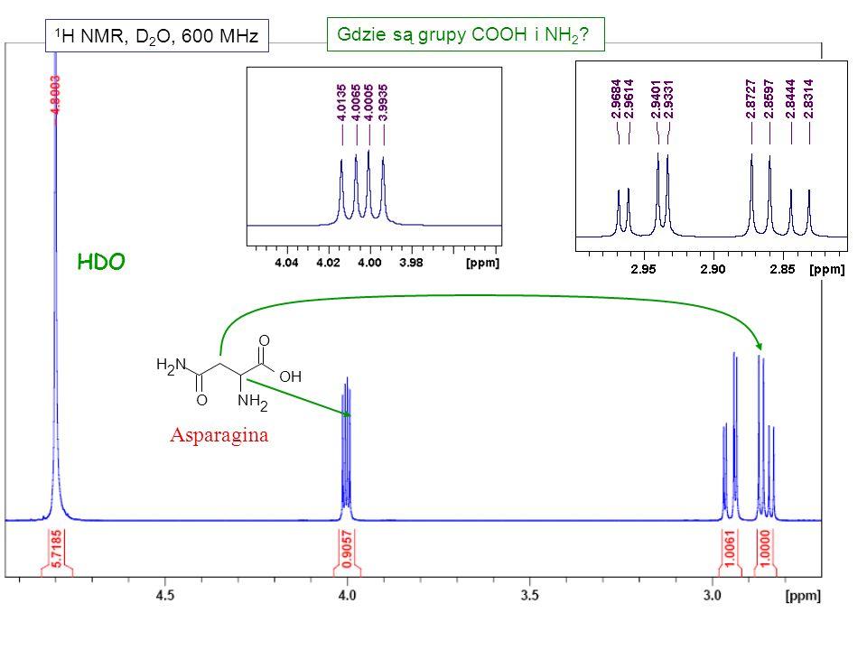 Dalekiego zasięgu do niezaznaczonych protonów J = 0 zygzakowata ścieżka wiązań 3 4 6