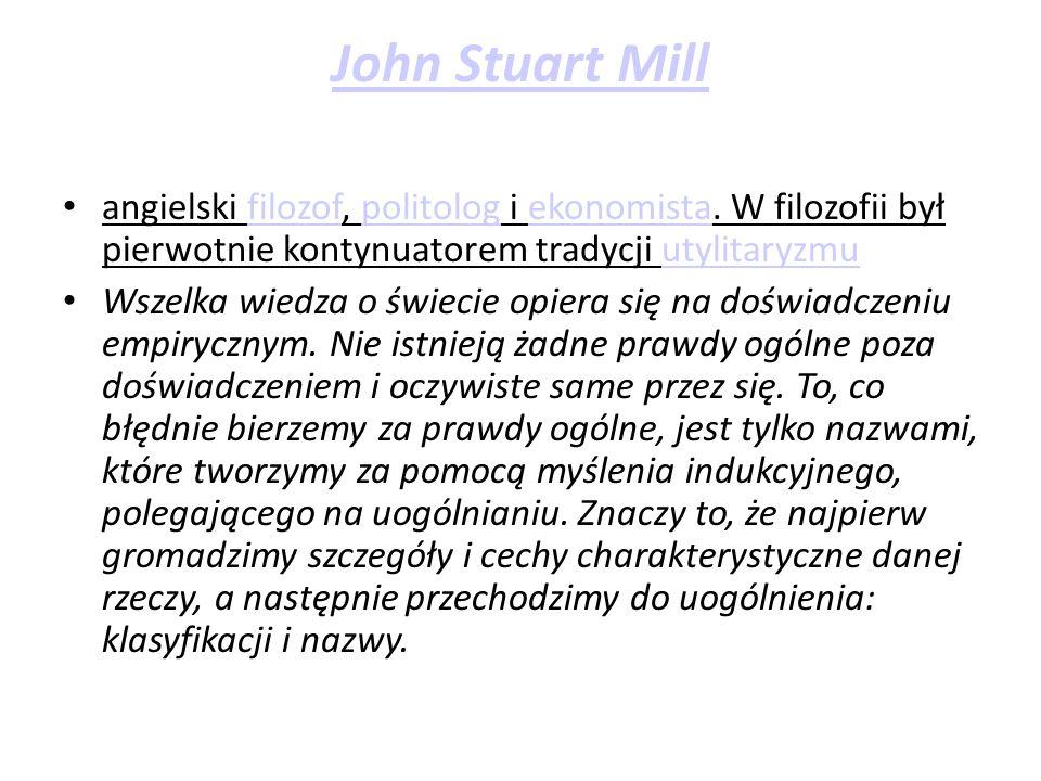 angielski filozof, politolog i ekonomista.