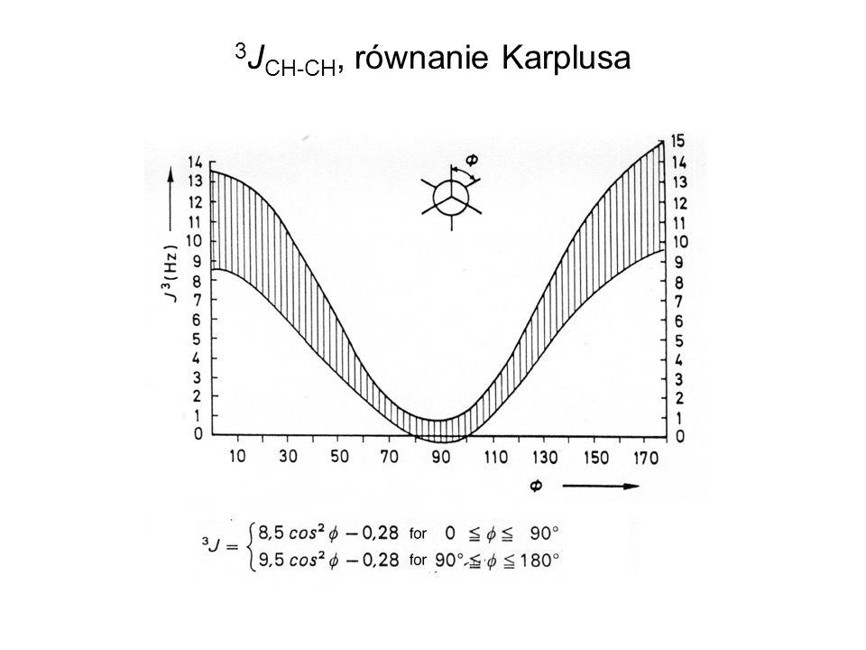 3 J CH-CH, równanie Karplusa