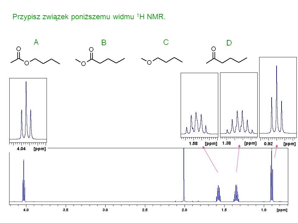 Przypisz związek poniższemu widmu 1 H NMR.
