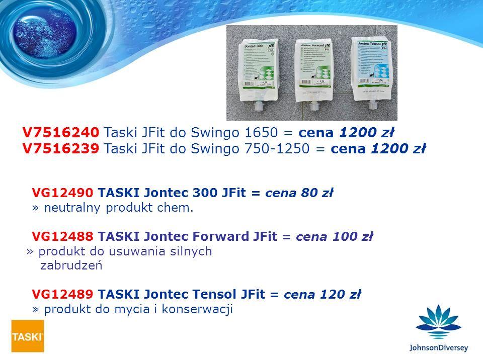 V7516240 Taski JFit do Swingo 1650 = cena 1200 zł V7516239 Taski JFit do Swingo 750-1250 = cena 1200 zł VG12490 TASKI Jontec 300 JFit = cena 80 zł » n