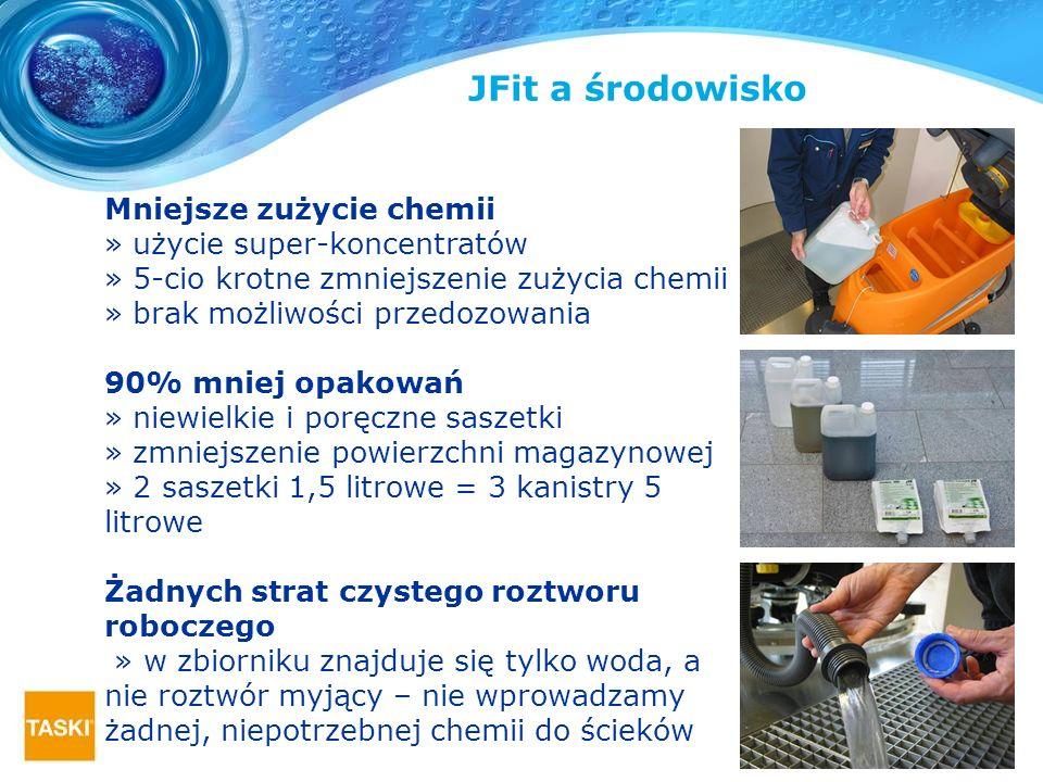 Mniejsze zużycie chemii » użycie super-koncentratów » 5-cio krotne zmniejszenie zużycia chemii » brak możliwości przedozowania 90% mniej opakowań » ni