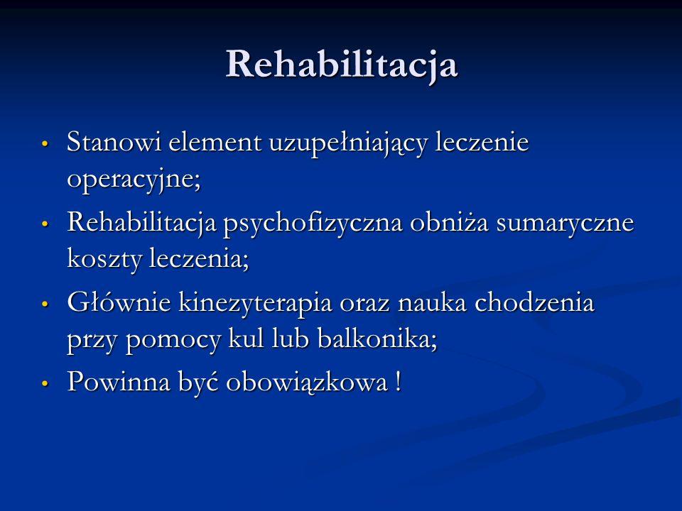 Rehabilitacja Stanowi element uzupełniający leczenie operacyjne; Stanowi element uzupełniający leczenie operacyjne; Rehabilitacja psychofizyczna obniż