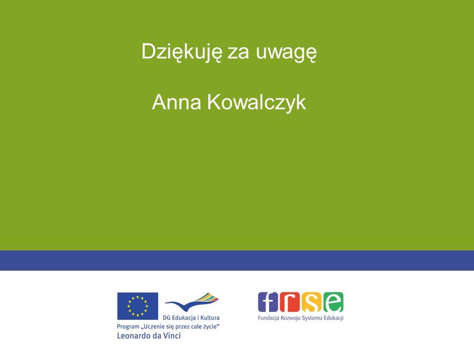 Dziękuję za uwagę Anna Kowalczyk -