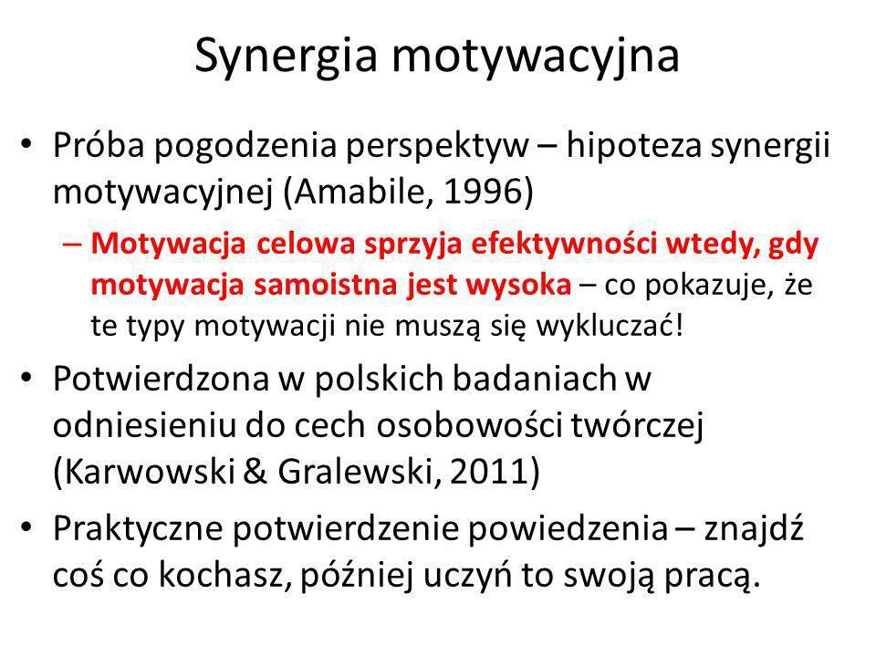 Hipoteza synergii motywacyjnej (1) 10 Badanie 3.