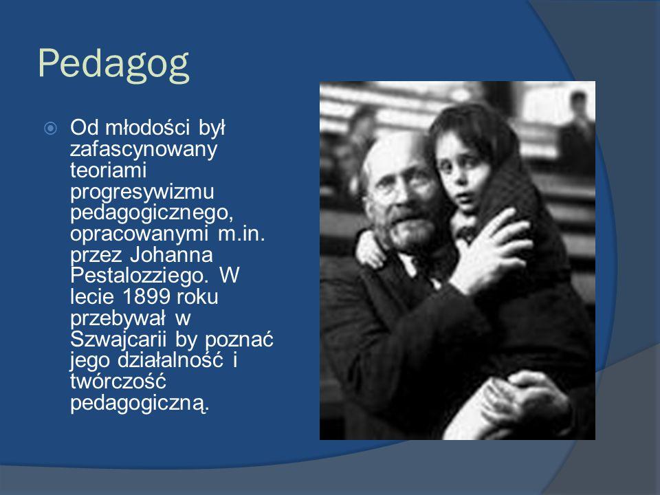 Pedagog Od młodości był zafascynowany teoriami progresywizmu pedagogicznego, opracowanymi m.in. przez Johanna Pestalozziego. W lecie 1899 roku przebyw