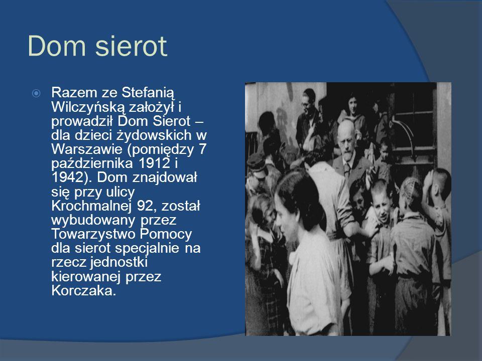 Dom sierot Razem ze Stefanią Wilczyńską założył i prowadził Dom Sierot – dla dzieci żydowskich w Warszawie (pomiędzy 7 października 1912 i 1942). Dom