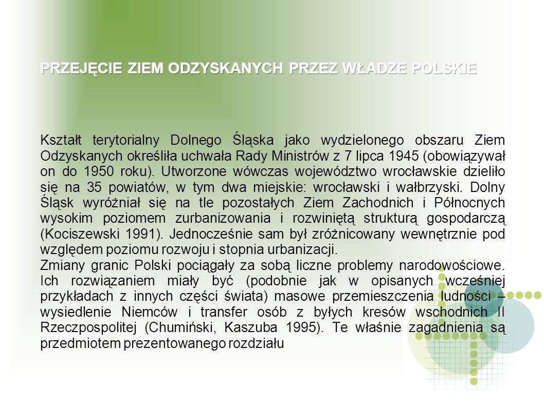 Kształt terytorialny Dolnego Śląska jako wydzielonego obszaru Ziem Odzyskanych określiła uchwała Rady Ministrów z 7 lipca 1945 (obowiązywał on do 1950