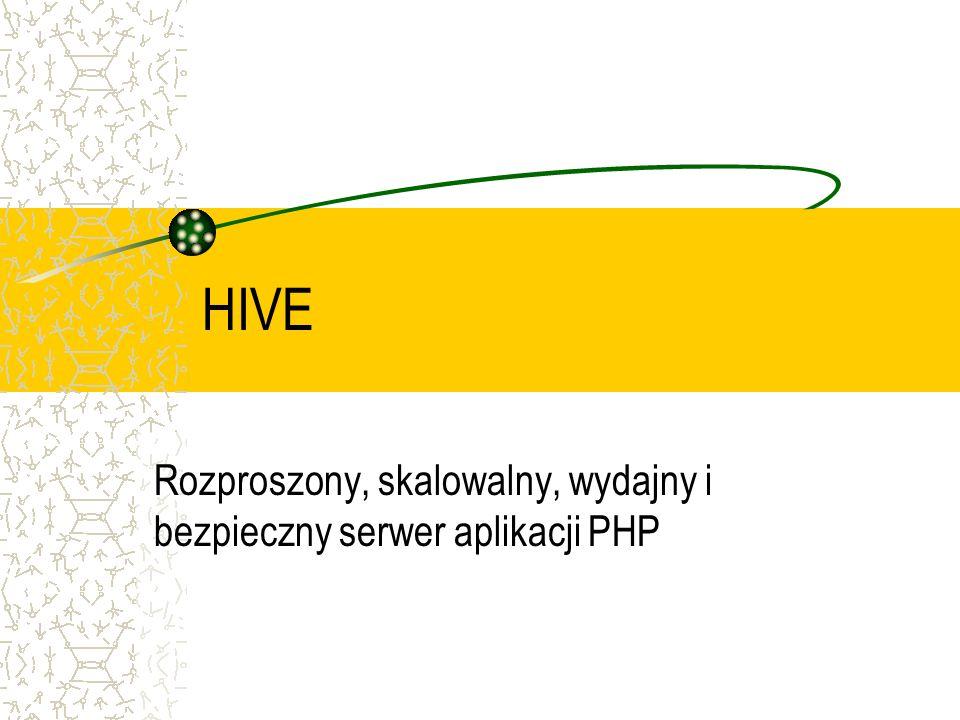 HIVE Rozproszony, skalowalny, wydajny i bezpieczny serwer aplikacji PHP
