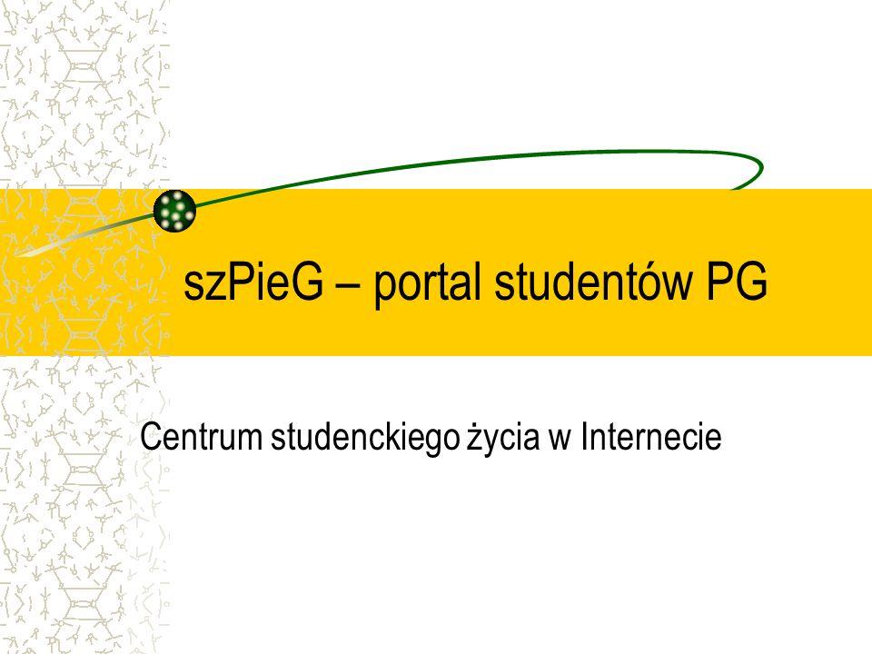szPieG – portal studentów PG Centrum studenckiego życia w Internecie
