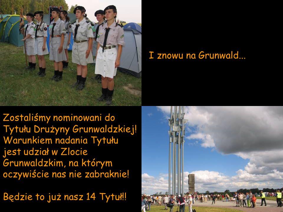 I znowu na Grunwald... Zostaliśmy nominowani do Tytułu Drużyny Grunwaldzkiej! Warunkiem nadania Tytułu jest udział w Zlocie Grunwaldzkim, na którym oc