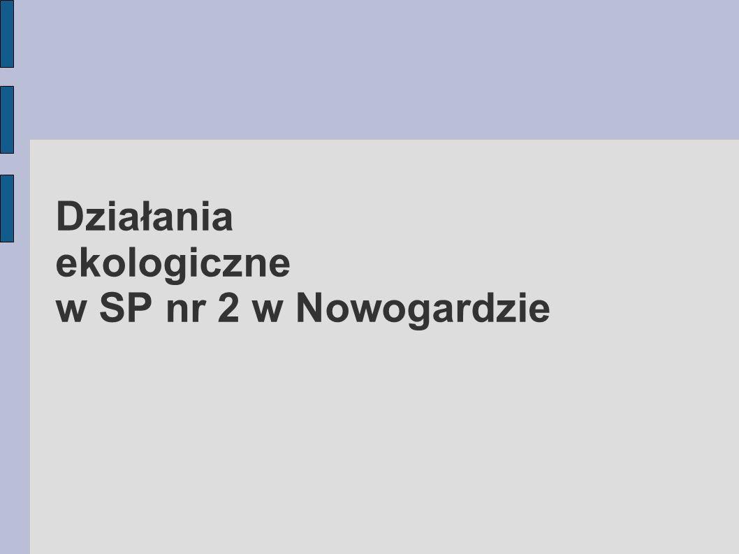 Działania ekologiczne w SP nr 2 w Nowogardzie