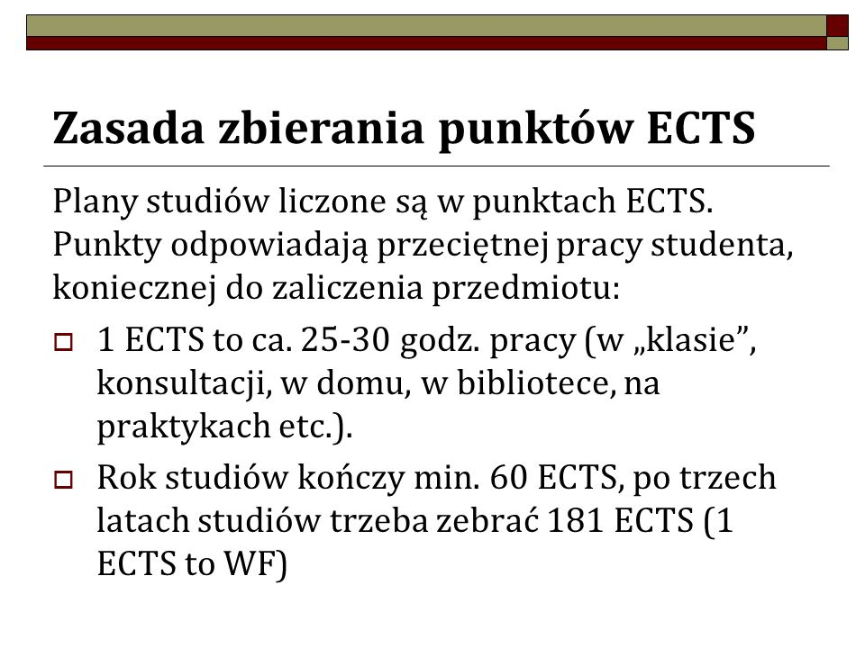 Punkty ECTS i program studiów Studenci muszą wybrać na każdym roku studiów konkretną liczbę punktów ECTS, odpowiadających przedmiotów do wyboru: Specjalnościowych; przedmiotów do wolnego wyboru germanistycznych (zajęcia B); przedmiotów do wolnego wyboru ogólnouniwersyteckich (zajęcia C); Zajęcia C można wybrać z oferty zajęć B, odwrotnie nie.
