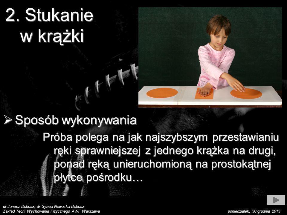 dr Janusz Dobosz, dr Sylwia Nowacka-Dobosz Zakład Teorii Wychowania Fizycznego AWF Warszawa poniedziałek, 30 grudnia 2013 Sposób wykonywania Sposób wy