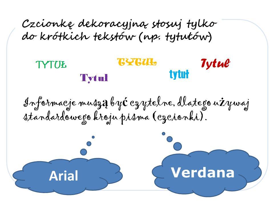 Arial Verdana