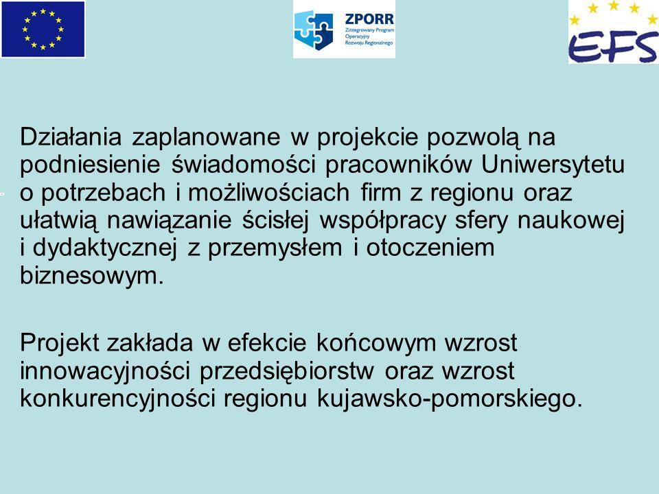 Działania zaplanowane w projekcie pozwolą na podniesienie świadomości pracowników Uniwersytetu o potrzebach i możliwościach firm z regionu oraz ułatwi